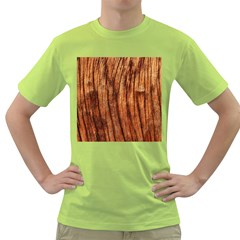 Old Brown Weathered Wood Green T Shirt