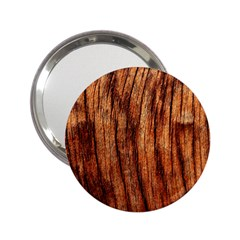 Old Brown Weathered Wood 2 25  Handbag Mirrors