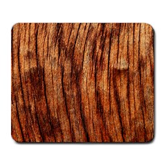 Old Brown Weathered Wood Large Mousepads