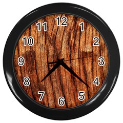 Old Brown Weathered Wood Wall Clocks (black)