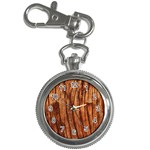 OLD BROWN WEATHERED WOOD Key Chain Watches Front