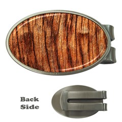Old Brown Weathered Wood Money Clips (oval)