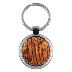Old Brown Weathered Wood Key Chains (round)