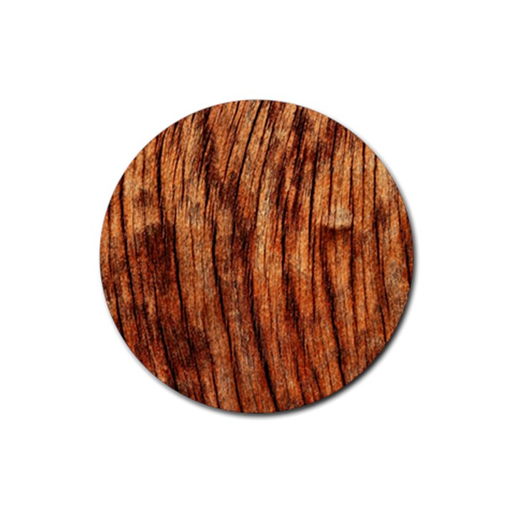 OLD BROWN WEATHERED WOOD Rubber Round Coaster (4 pack)