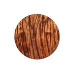 OLD BROWN WEATHERED WOOD Magnet 3  (Round) Front