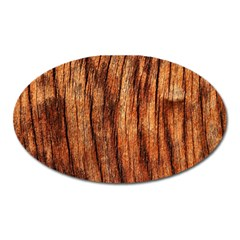 Old Brown Weathered Wood Oval Magnet