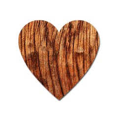 Old Brown Weathered Wood Heart Magnet