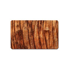 Old Brown Weathered Wood Magnet (name Card)
