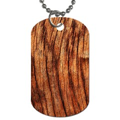 Old Brown Weathered Wood Dog Tag (one Side)