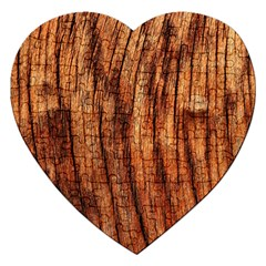 OLD BROWN WEATHERED WOOD Jigsaw Puzzle (Heart)