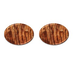 OLD BROWN WEATHERED WOOD Cufflinks (Oval)