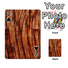 OLD BROWN WEATHERED WOOD Playing Cards 54 Designs