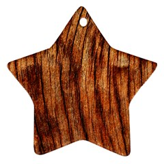 OLD BROWN WEATHERED WOOD Star Ornament (Two Sides)
