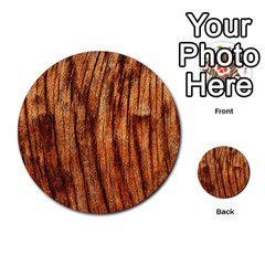 OLD BROWN WEATHERED WOOD Multi-purpose Cards (Round)