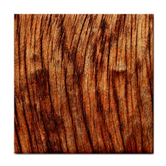 Old Brown Weathered Wood Face Towel