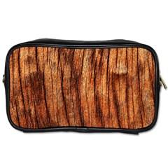 OLD BROWN WEATHERED WOOD Toiletries Bags 2-Side