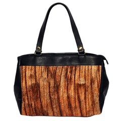OLD BROWN WEATHERED WOOD Office Handbags (2 Sides)