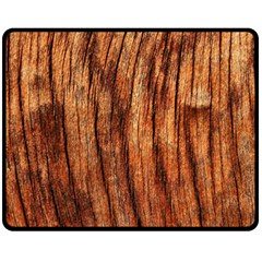 Old Brown Weathered Wood Fleece Blanket (medium)
