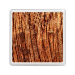 OLD BROWN WEATHERED WOOD Memory Card Reader (Square)