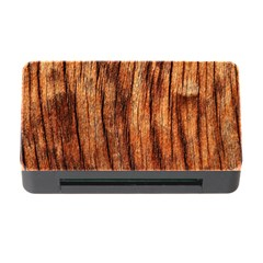 Old Brown Weathered Wood Memory Card Reader With Cf