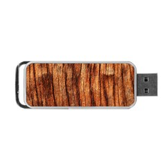 Old Brown Weathered Wood Portable Usb Flash (two Sides)