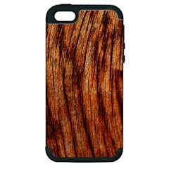 OLD BROWN WEATHERED WOOD Apple iPhone 5 Hardshell Case (PC+Silicone)