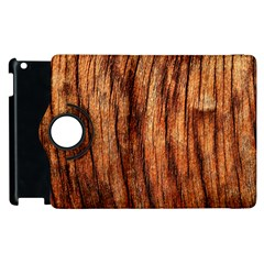 Old Brown Weathered Wood Apple Ipad 2 Flip 360 Case