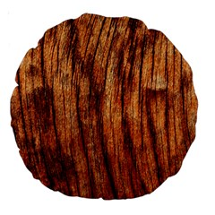 OLD BROWN WEATHERED WOOD Large 18  Premium Round Cushions