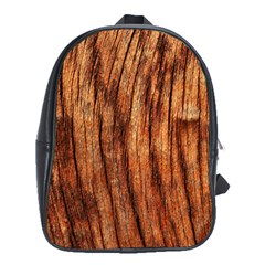 OLD BROWN WEATHERED WOOD School Bags (XL)