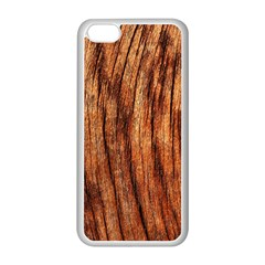 OLD BROWN WEATHERED WOOD Apple iPhone 5C Seamless Case (White)