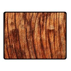 Old Brown Weathered Wood Double Sided Fleece Blanket (small)