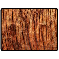 Old Brown Weathered Wood Double Sided Fleece Blanket (large)