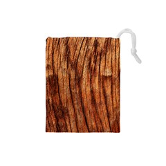 Old Brown Weathered Wood Drawstring Pouches (small)