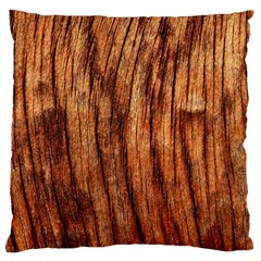 OLD BROWN WEATHERED WOOD Standard Flano Cushion Cases (One Side)