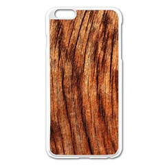 OLD BROWN WEATHERED WOOD Apple iPhone 6 Plus/6S Plus Enamel White Case
