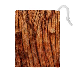 Old Brown Weathered Wood Drawstring Pouch (xl)