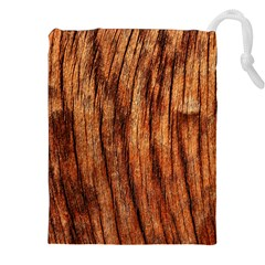 OLD BROWN WEATHERED WOOD Drawstring Pouch (XXL)