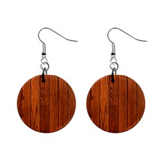 OAK PLANKS Mini Button Earrings