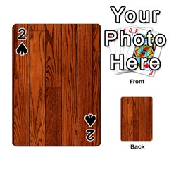 OAK PLANKS Playing Cards 54 Designs