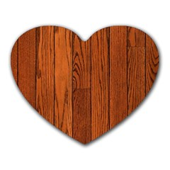 Oak Planks Heart Mousepads