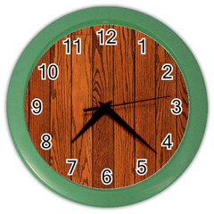 Oak Planks Color Wall Clocks