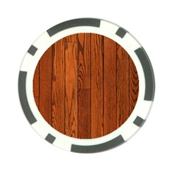 Oak Planks Poker Chip Card Guards