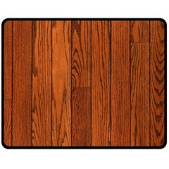 OAK PLANKS Double Sided Fleece Blanket (Medium)