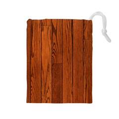 Oak Planks Drawstring Pouches (large)