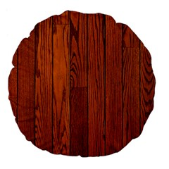 OAK PLANKS Large 18  Premium Flano Round Cushions