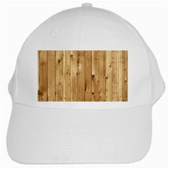 Light Wood Fence White Cap