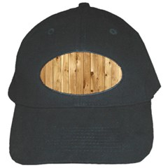 Light Wood Fence Black Cap