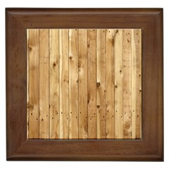 Light Wood Fence Framed Tiles