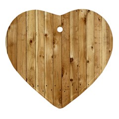 Light Wood Fence Ornament (heart)