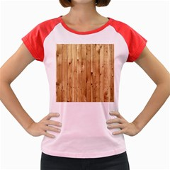 Light Wood Fence Women s Cap Sleeve T Shirt